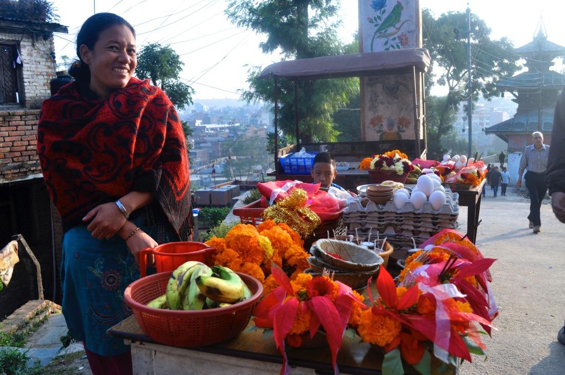 Nepal.Flower.seller - 1