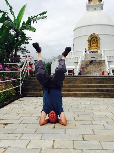 Me doing yoga